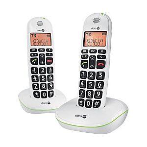 Doro PhoneEasy 100w Duo Cordless Telephone White Twin Handset