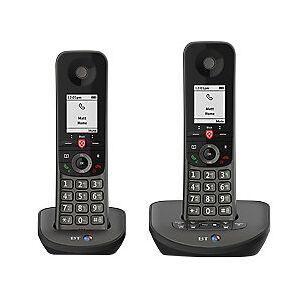 BT Advance Twin Cordless Telephone 90639 Black Twin Handset
