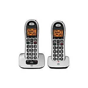 BT4000 Twin Cordless Telephone Black, Silver 2 Pieces