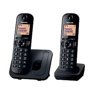KX-TGC212E Cordless Telephone Black Twin Handset