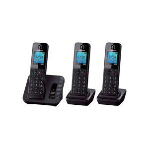 Panasonic KX-TGH220EB Trio Cordless Telephone Black 3 Pieces