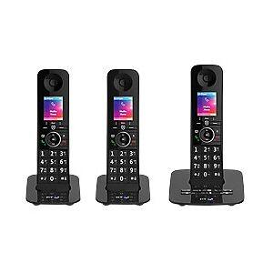 Premium Cordless Telephone 90632 Black Trio Handset