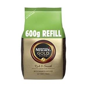 NESCAF Gold Blend Rich & Smooth Instant Ground Coffee Bag Granules 600g