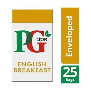 PG tips English Breakfast Tea Bags 25 Pieces