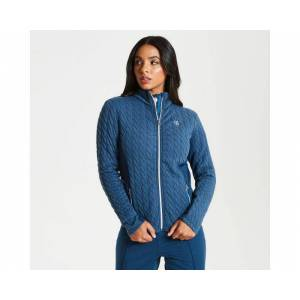 Women's Sumptuous Full Zip Knitted Luxe Stretch Midlayer Blue Wing