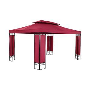Uniprodo Patio Gazebo - 3 x 4 m - 180 g/m² - wine red