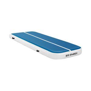 Gymrex Inflatable Gym Mat - Airtrack - 300 x 100 x 20 cm - 150 kg - blue/white
