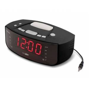 Caliber Digital PLL FM clock radio with AUX-in and wake-up / night lamp HCG101