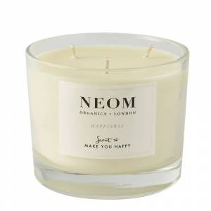 NEOM Happiness Scented Candle 3 Wick 50hrs