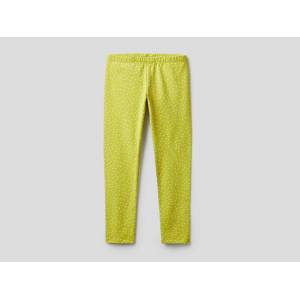 United Benetton, Printed Leggings In Stretch Cotton, size S, Yellow, Kids