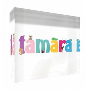 Feel Good Art Framed Box Canvas with Solid White Wooden Surround in Cute Illustrative Design Boy's Name (34 x 88 x 3 cm, Large, Ethan)