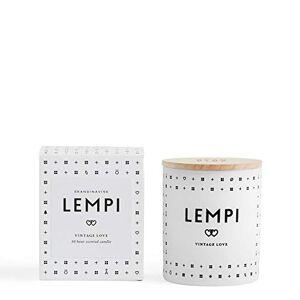 Skandinavisk Lempi (Love) Scented Candle with Engraved Beechwood Lid 190 g - Vegetable wax