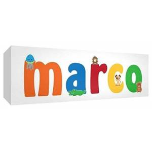 Little Helper LHV-MARCO-1542-15IT Nursery Canvas with Front Panel 15 x 42 x 4 cm Multi-Coloured
