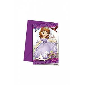 Disney Unique Party 71520 - Disney Sofia the First Party Invitations, Pack of 6