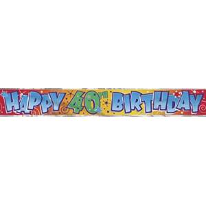 Unique Party 90024LF - 12ft Foil Happy 40th Birthday Banner