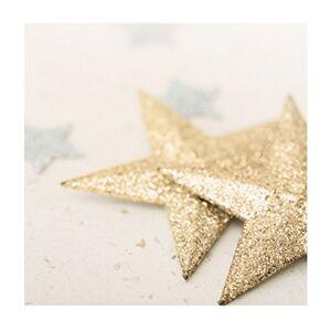 Hallmark Blank Christmas Card 'Gold Star' - Small Square