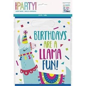 Unique Party 73233 - Llama Birthday Party Bags, Pack of 8