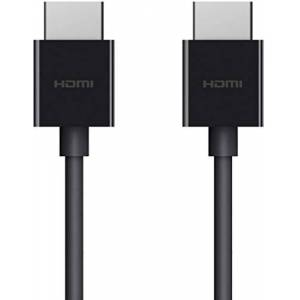 Belkin AV10175bt2M-BLK Ultra HD High Speed Premium HDMI Cable, 4K/ Dolby Vision HDR10+, Optimal Viewing For Apple TV, 2 m/6.6 ft, Black