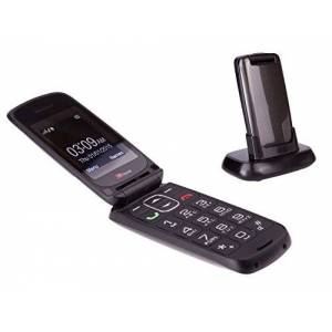 TTfone Star Big Button Simple Easy to Use Clamshell Flip SIM-Free Mobile Phone - Grey,TT300G