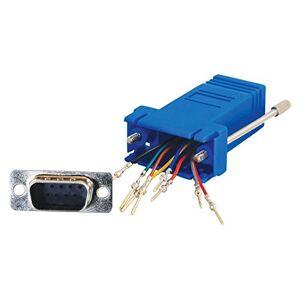 C2G Blue RJ45 Ethernet to DB9 Male Gender Changer / RJ45-DB9 Adapter