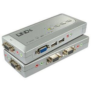 LINDY USB KVM Switch Compact Audio 4