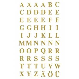 Avery Small Gold Letters Stickers