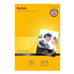 Kodak Ultra Premium Inkjet Photo Paper (20 Sheets, A6, (10 x 15 cm), 280 g) Satin