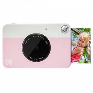 """Kodak PRINTOMATIC Digital Instant Print Camera (Pink), Full Color Prints On ZINK 2x3"""" Sticky-Backed Photo Paper - Print Memories Instantly"""