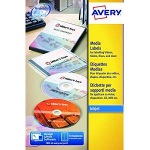 Avery Media Labels 144.8 x 16.9 Bianco