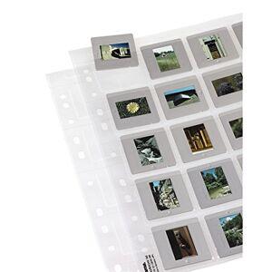 Hama Slide Storage Sleeves, each holding 20 Mounted Slides 5 x 5 cm (Pack of 25)
