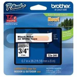 Brother TZE-241CIV Labels - Black / White