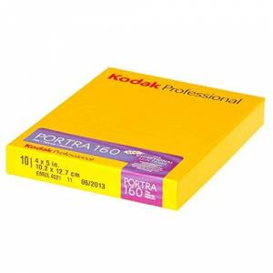 Kodak 1710516 Portra 160 4x5-Inch Colour Negative Film (10 Sheets)