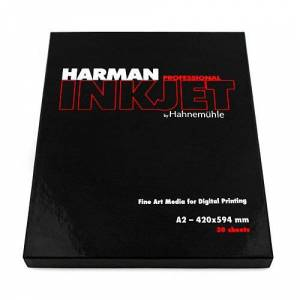 Hahnemühle Photo Harman by Hahnemühle 10646500–Photo Paper Matt Cotton Smooth 300g, A2