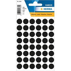 HERMA Multi-Purpose Labels  12mm Black 240PCS