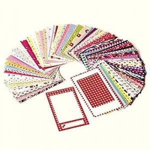 Zink Colorful, Fun & Decorative Photo Border Stickers For 2x3 Photo Paper Projects - Pack of 100