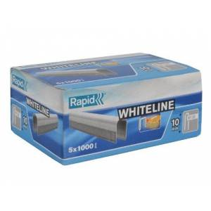 Rapid High Performance No.28 White Cable Staples, Leg Length: 10 mm, 11893511 - 5000 Pieces