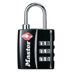 Master Lock 4680EURDBLK 30mm 3 Digit Resettable Combination TSA Luggage Padlock