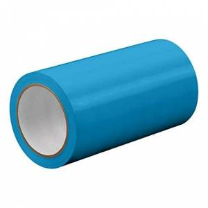 """TapeCase TC414-43"""" X 72YD-LTBLUE Light Blue UPVC/Rubber Adhesive Film Tape, 0.0023"""" Thick, 72 yd. Length, 43"""" Width, 1 Roll"""
