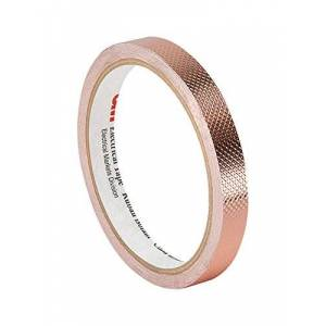 """3M TapeCase 1245 0.71"""" x 18yd Copper/Acrylic Adhesive Embossed Foil Tape Converted from 3M 1245, 0.0083"""" Thick, 18 yd. Length, 0.71"""" Width"""