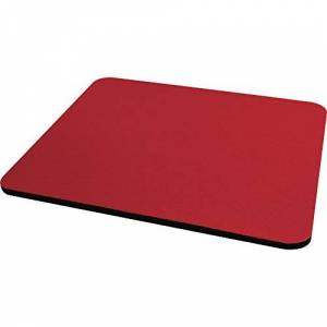 Fellowes Standard Polyester Surface Rectangle Mouse Pad-Red