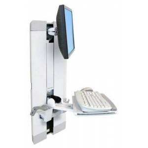 Ergotron 9 inch Vertical Lift with Slide Out Keyboard Tray - White