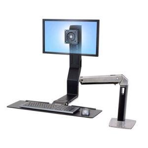 Ergotron WorkFit-A Single LD LCD Sit-Stand Workstation Up To 61cm (24Zoll) schwarz