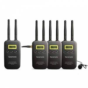 Saramonic SRVML5/3K 5.8 GHz Wireless Lavalier Microphone System VmicLink5 3 Transmitters and 1 Receiver for Canon EOS T6