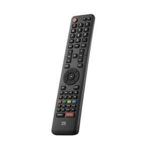 One For All Hisense TV Replacement remote URC1916 - Works with ALL Hisense televisions (LED,LCD,Plasma) - Ideal TV replacement remote control with same functions as the original Hisense remote - black