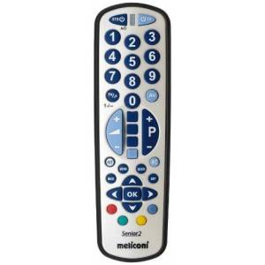 Meliconi Senior 2 Universal Remote Control 2In1 With Impact-Proof Rubber And Large Keys