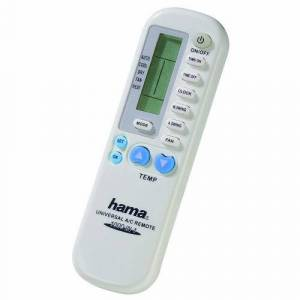 Hama Mando A/C Universal II IR Wireless Push buttons White - remote controls (IR Wireless, White, Air conditioner, Universal, Push buttons, LCD)