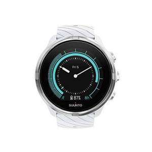 Suunto 9 Unisex Multisport GPS Watch, 25+Hours Battery Life, Waterproof to 100 m, Wrist Heart Rate Monitor, Colour Display, Mineral Glass, White, SS050143000