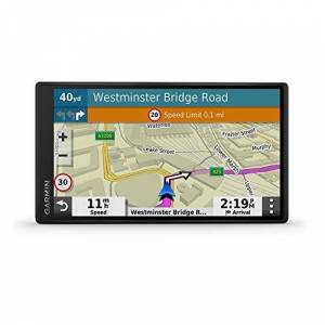 Garmin DriveSmart 55 MT-S 5.5 Inch Sat Nav with Edge to Edge Display, Map Updates for UK, Ireland and Full Europe, Live Traffic, Bluetooth Hands-free Calling, Voice Commands and Smart Features, Black