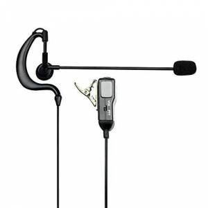 Midland MA30-L Microphone/Ear Cushion Set Shaped to Ear with PTT for Walkie Talkies