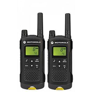 "Motorola XAP0085BDGAA"" XT180 2-Way PMR446 Walkie Talkie Radio - Black with Yellow Trim (Pack of 2)"